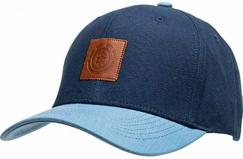ELEMENT MENS CAP.TREELOGO COTTON BASEBALL CURVED PEAK BLUE ADJUSTABLE HAT S20 A4